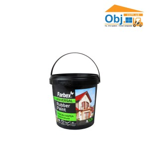 Краска резиновая Фарбекс серая RAL7046 Farbex Rubber Paint (1,2кг)